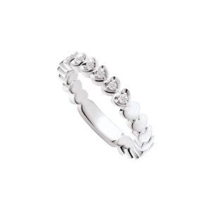 Polello anello in oro bianco e diamanti G3083B