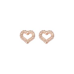 Amen orecchini donna Cuore in argento rosé ORGOCUR
