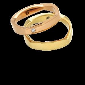 J'OR fedi in oro forma geometrica QUAR 16024