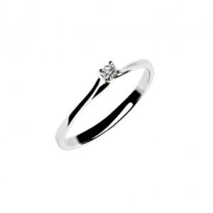 TodaGioia anello solitario in oro bianco SD10-05