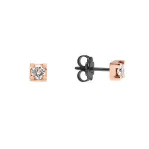 Lux Gioielli orecchini in oro con diamante LUX-NERO04