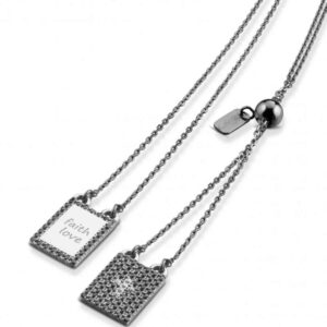 TodaGioia scapolare in argento pavé nero ACS26