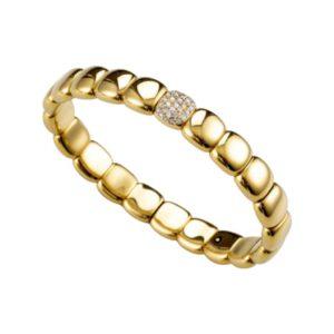 Orotech bracciale in oro, ceramica e diamanti B12-121GHW